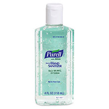 Go-Jo Industries 4 Ounce Bottle Purell Instant Hand Sanitizer 9631-24