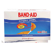 Johnson & Johnson 3 4in X 3in Band Aid Flexible Fabric Strip 4434