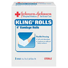 Johnson & Johnson 4in X 75in Band Aid RED CROSS KLING Tape 5522