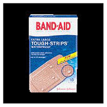 Johnson & Johnson 1 3 4in X 4in Band Aid Tough Strips X Large 5566