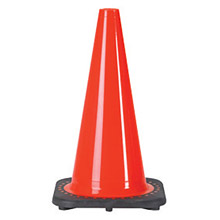 "JBC JB2RS30008C 12"" Orange PVC Revolution Series 1-Piece Traffic Cone With Black Base"