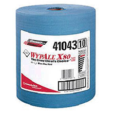 Kimberly-Clark Professional 12 1 2in X 13.4in Blue WYPALL X80 SHOPPRO 41043