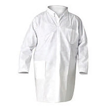 Kimberly-Clark Professional K4510039 X-Large White KLEENGUARD A20 MICROFORCE SMS Fabric Disposable Breathable Particle Protection Lab Coat With Snap Front Closure