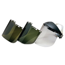 "Kimberly-Clark Professional K4529082 Jackson Safety Model F30 9"" X 15 1/2"" X .04"" Light Green Aluminum Bound Acetate Faceshield For Use With Headgear"