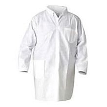 Kimberly-Clark Professional K4540049 2X White KLEENGUARD A20 MICROFORCE SMS Fabric Disposable Breathable Particle Protection Lab Coat With Snap Front Closure
