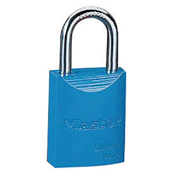 "Master Lock M196835BLU Blue 1 9/16"" X 1 15/16"" High-Visibility Aluminum Safety Lockout Padlock With 1/4"" X 1"" Shackle"