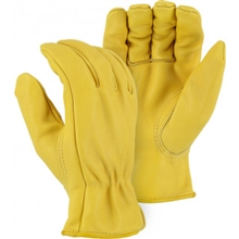 Majestic Drivers Gloves Gold Cowhide Keyst. Thumb 1510G