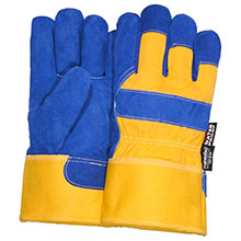 Majestic Work Gloves Blue Yellow Thinslt 1600TW