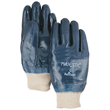 Majestic Nitrile Gloves Coated Knit Wrist 3201