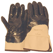 Majestic Nitrile Gloves Coat Open Back Safety Cuff 3202