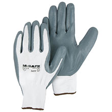Majestic Nitrile Gloves Foam Palm Coat Kw 3225