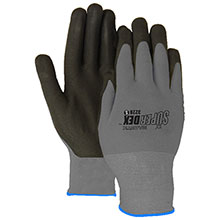 Majestic Nitrile Gloves Micro Foam Palm Nylon Black 3228