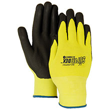 Majestic Nitrile Gloves Micro Foam Black HV Yellow 3228HVY