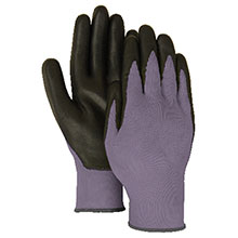Majestic Nitrile Gloves Foam Palm Nylon Black 3229