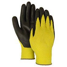 Majestic Nitrile Gloves Foam Palm Black Hv Yellow 3229HVY
