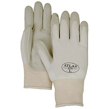Majestic Nitrile Gloves Atlas 370 White Palm On Nylon 3260