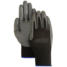Majestic Nitrile Gloves Palmcoat On Nylon Black 3270