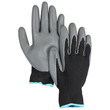 Majestic Nitrile Gloves Palmcoat On Nylon Black 3270NL