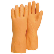 Majestic Neoprene Gloves Rubber Heavy Duty 30Mil Fl.Lined 3355