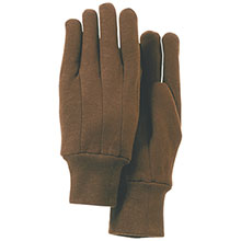 Majestic Work Gloves Brown Jersey 3401