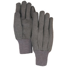 Majestic Work Gloves Brown Jersey 3401B