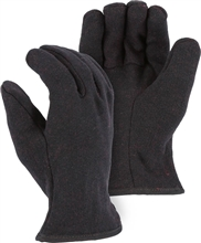 Majestic Work Gloves Brown Jersey Red Fleece Lined 3421