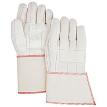 Majestic String Gloves Grey Knit Cotton Poly 60 40 3804G