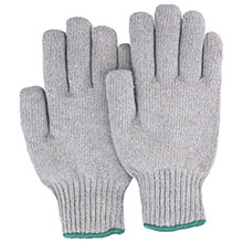 Majestic String Gloves Grey Knit Cotton Poly 60 40 3805G