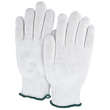 Majestic String Gloves White Knit Cotton Poly 55 45 3806W