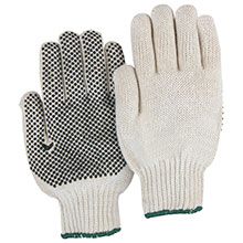 Majestic String Gloves 1 Side Dotted Knit 3815