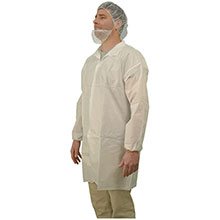 Majestic Sms Labcoat 3 Snaps Collar 50Cs 74-401