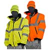 Majestic Rainwear Bomber Jacket Lined HV Yellow Class 75-1301