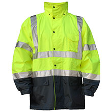 Majestic Rainwear Jacket Hi Vis Yellow Class 3 75-1305