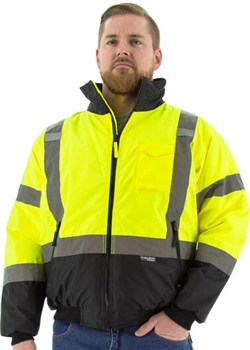 Majestic High Visibility Waterproof Jacket with Quilted Liner, ANSI 3, R, Also Available in Tall Sizes, Each