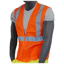 Majestic Mesh Vest Zipper HV Orange Class 2 75-3202