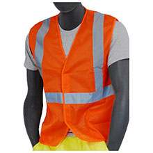 Majestic Mesh Vest Velcro HV Orange Class 2 75-3204