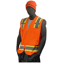 Majestic Heavy Duty Surveyor Vest HV Org Dot Cl 2 75-3222