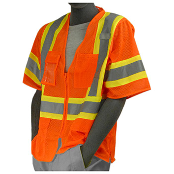 Majestic Mesh Vest Zipper HV Orange Class 3 75-3302