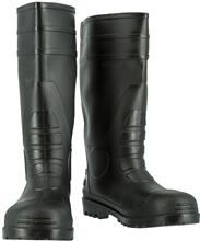 Majestic PVC Boot Plain Toe Black 8220