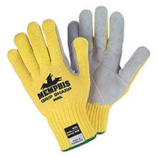 Memphis Glove Yellow Grip Sharp 7 gauge Leather MEG9686S Small