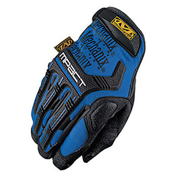 Mechanix Wear Black And Blue M-Pact Full Finger MF1MPT-03-008 Small
