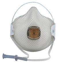Moldex MOL2701N95 Small N95 Disposable Particulate Respirator With Ventex Exhalation Valve, HandyStrap And Dura-Mesh Shell - Meets NIOSH And OSHA Standards