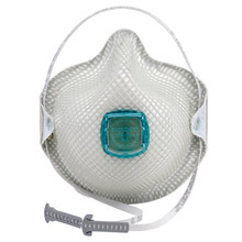 Moldex MOL2730N100 Medium - Large N100 Disposable Particulate Respirator With Ventex Exhalation Valve, HandyStrap And Dura-Mesh Shell - Meets NIOSH, ANSI, ISEA And OSHA Standards
