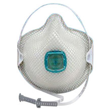 Moldex MOL2731N100 Small N100 Disposable Particulate Respirator With Ventex Exhalation Valve, HandyStrap And Dura-Mesh Shell - Meets NIOSH, ANSI, ISEA And OSHA Standards