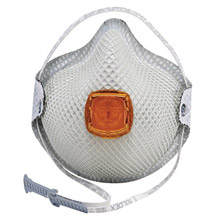 Moldex MOL2801N95 Small N95 Disposable Particulate Respirator With Ventex Exhalation Valve, HandyStrap And Dura-Mesh Shell - Meets NIOSH, ANSI And ISEA Standards