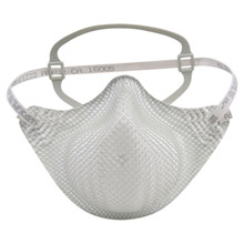 Moldex MOLEZ22 Medium - Large N95 EZ-ON Disposable Particulate Respirator With Cotton Strap And Dura-Mesh Shell - Meets NIOSH Standards