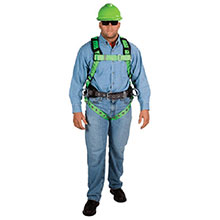 MSA Safety Harness X Large Green Black TechnaCurv Construction 10063656