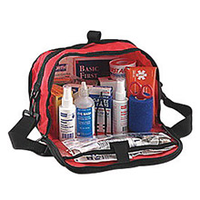 "North by Honeywell NOS018504-4222 Redi-Care 7"" X 10 1/2"" X 6"" Red Nylon Portable Mount Large 25 Person Responder First Aid Kit With CPR Barrier"