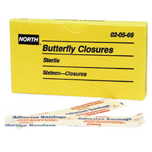 North by Honeywell Latex Free Plastic Butterfly Closure Adhesive 20566