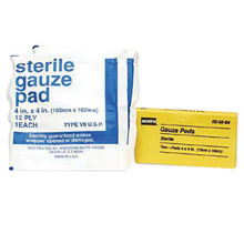 North by Honeywell 4in X 4in Latex Free Sterile Gauze Pad 20584